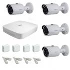 IP Комплект видеонаблюдения Dahua Ultra HD POE 4 цилиндра (металл)