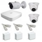 IP Комплект видеонаблюдения Dahua Ultra HD POE 1 уличн - 2 купол (металл)