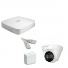 IP Комплект видеонаблюдения Dahua 4MP (2K) Ultra HDHD POE 1купольная(металл)