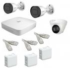 IP Комплект видеонаблюдения Dahua 4MP (2K) Ultra HD POE 2уличн-1купол(металл)