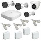 IP Комплект видеонаблюдения Dahua 4MP (2K) Ultra HD POE 3уличн-1купол(металл)