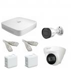 IP Комплект видеонаблюдения Dahua 4MP (2K) Ultra HD POE 1уличн-1купол(металл)