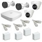 IP Комплект видеонаблюдения Dahua 4MP (2K) Ultra HD POE 2уличн-2купол(металл)