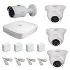 IP Комплект видеонаблюдения Dahua Ultra HD POE 1 уличн - 3 купол (металл)