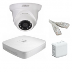 IP Комплект видеонаблюдения Dahua Ultra HD POE 1 купольная (металл)