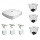 IP Комплект видеонаблюдения Dahua Ultra HD POE 3 купольные (металл)