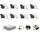 Комплект видеонаблюдения Hikvision Proffesional  8 уличные