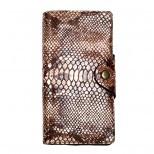 Кожаный бумажник двойной Locker Wallet4 Snake