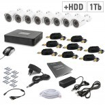 Комплект видеонаблюдения Tecsar 8OUT+1TБ HDD