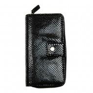 Кожаный женский кошелек-клатч RFID защитой Locker Purse4 Snake