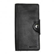 Кожаный черный бумажник двойной Locker Wallet4 Black