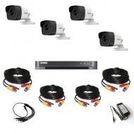 Комплект видеонаблюдения Hikvision Ultra HD 4 уличные (металл)
