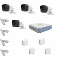IP Комплект видеонаблюдения Hikvision Standart POE 4 цилиндрические(металл)