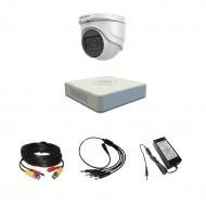 Комплект видеонаблюдения Hikvision Proffesional с микрофоном 1купольная(металл)
