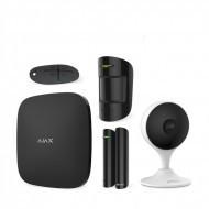 Комплект сигнализация Ajax StarterKit черный + IP камера Dahua DH-IPC-C22EP