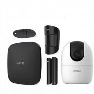 Комплект сигнализация Ajax StarterKit черный + IP камера Dahua DH-IPC-A22EP