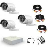 Комплект видеонаблюдения Hikvision Standart 3 уличные