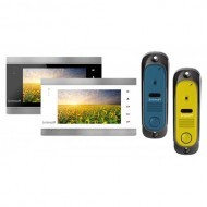 Комплект видеодомофона Intercom IM-12 (blue/yelow)