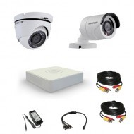 Комплект видеонаблюдения Hikvision Standart 1 уличн - 1купол (металл)