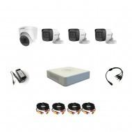Комплект видеонаблюдения Hikvision Proffesional с микрофоном 3уличн-1купол(металл)
