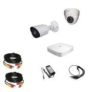 Комплект видеонаблюдения Dahua Ultra HD 1уличн-1купол (металл)