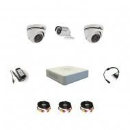 Комплект видеонаблюдения Hikvision Standart 1 уличн - 2 купол (металл)