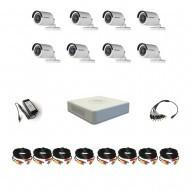 Комплект видеонаблюдения Hikvision(8) Стандарт 8 уличных