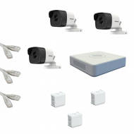 IP Комплект видеонаблюдения Hikvision Standart POE 3 цилиндра(металл)