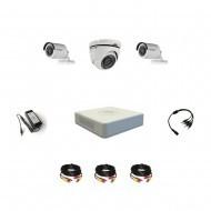Комплект видеонаблюдения Hikvision Professional 2 уличн - 1 купол (металл)