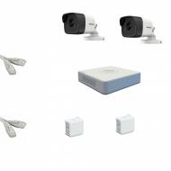 IP Комплект видеонаблюдения Hikvision Standart POE 2 цилиндра(металл)