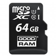 Карта памяти microSDXC class 10 GOODRAM 64 GB UHS-I + SD Adapter M1AA-0640R11