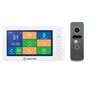 Комплект видеодомофона Tantos Amelie - SD (white) + вызывная панель NeoLight SOLO Graphite