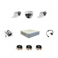 Комплект видеонаблюдения Hikvision Professional 2 уличн - 1 внутр