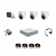 Комплект видеонаблюдения Hikvision Proffesional с микрофоном 1уличн-3внутр