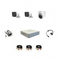 Комплект видеонаблюдения Hikvision Proffesional с микрофоном 2уличн-1внутр