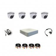 Комплект видеонаблюдения Hikvision Professional 4 купольные (металл)