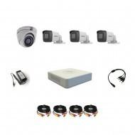 Комплект видеонаблюдения Hikvision Turbo HD 5Мп 3уличн-1купол(металл)
