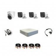 Комплект видеонаблюдения Hikvision Proffesional с микрофоном 3уличн-1внутр