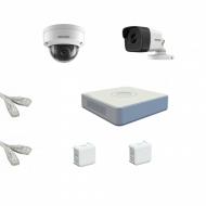 IP Комплект видеонаблюдения Hikvision Standart POE 1уличн-1купол(металл)