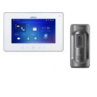 Комплект ip видеодомофона Dahua DH-VTH5221DW-S2 и ip вызывной панели DHI-VTO2101E-P-S1