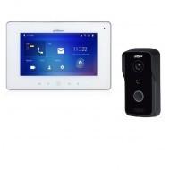 Комплект ip видеодомофона Dahua DH-VTH5221DW-S2 и ip вызывной панели DH-VTO2111D-WP-S1