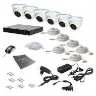 Комплект видеонаблюдения Tecsar 6IN 2MEGA