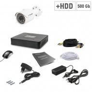 Комплект видеонаблюдения Tecsar 1OUT+500ГБ HDD
