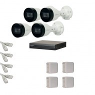 IP Комплект видеонаблюдения Dahua(8) 2MP (FullHD) 4 цилиндр