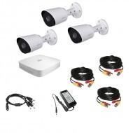 Комплект видеонаблюдения 4МП Dahua Ultra HD 3 уличн (металл)