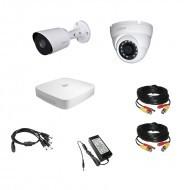 Комплект видеонаблюдения 4МП Dahua Ultra HD 1уличн - 1купол (металл)