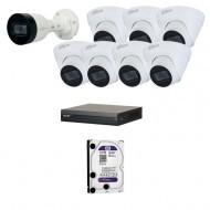 IP Комплект видеонаблюдения Dahua(8) 2MP (FullHD) 1уличн-7купол