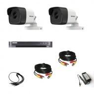 Комплект видеонаблюдения Hikvision Ultra HD 2уличные (металл)