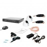Комплект видеонаблюдения Tecsar 2OUT-2M-AUDIO DOME