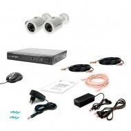 Комплект видеонаблюдения Tecsar 2OUT-2M-AUDIO
